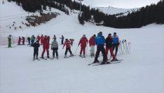 Ordu'da dezavantajlı çocuklara kayak eğitimi