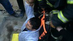 Ordu'da su kuyusuna düşen işçi kurtarıldı