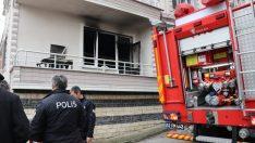 Yangında çocukları, komşuları ve itfaiye ekibi kurtardı