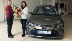 Yeni Toyota Corolla Ordulu sahibine verildi