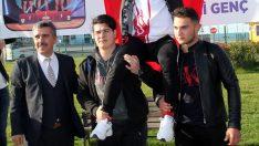 Dünya Yıldızlar Halter Şampiyonu Genç, Ordu'da coşkuyla karşılandı