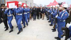 Şehit Jandarma Astsubay Çavuş Burçin Damcı son yolculuğuna uğurlandı