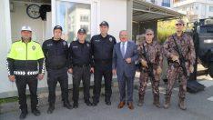 BAŞKAN GÜLER, POLİS NOKTALARINI ZİYARET ETTİ