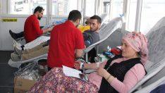 Ünye'de kan bağışına destek
