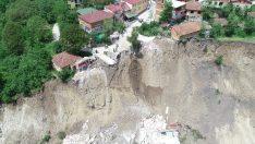 Ordu'da 31 konutun yıkıldığı heyelan