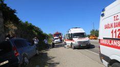 Ordu'da hafif ticari araç su kanalına düştü: 4 yaralı