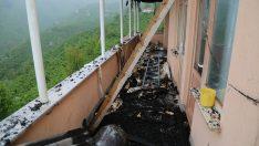 Ordu'da yıldırım isabet eden evde hasar oluştu