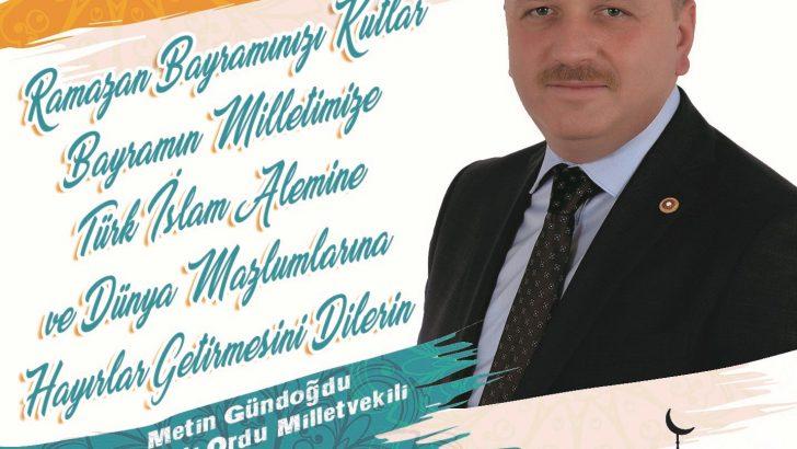 Metin Gündoğdu'nun, Ramazan Bayramı Mesajı