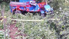 Ordu'da tarım aracı devrildi: 1 ölü