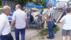 Ordu'da tarım aracıyla otomobil çarpıştı: 2 yaralı