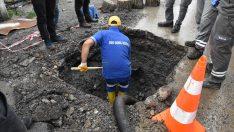 Su borusunun tamiri sırasında zarar gören doğal gaz borusu alev aldı: 2 yaralı