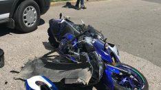 Ünye'de kamyonetle motosiklet çarpıştı: 1 yaralı