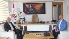 Eski Başkan Tekintaş'tan Sağlık Müdürü Dr.Kasapoğluna Ziyaret