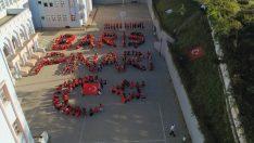 Ordu'da Lise öğrencilerinden Mehmetçik'e koreografili destek