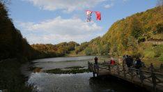 Ordu'daki Ulugöl sonbahar renkleriyle büyülüyor