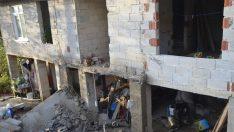 Ordu'da inşaat halindeki binanın balkonu çöktü: 1 yaralı