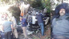 Ordu'da hafriyat kamyonu uçuruma devrildi: 1 yaralı