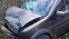Ordu'da yolcu minibüsüyle hafif ticari araç çarpıştı: 10 yaralı