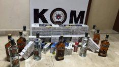 Ordu'da kaçak sigara ve içki operasyonu