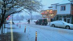 Ordu'nun yüksek kesimlerinde kar yağışı etkili oldu