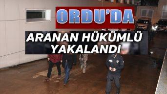 Giresun'da hastaneden kaçan hükümlü Ordu'da yakalandı