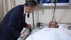 Ordu Üniversitesi Rektörü Akdoğan'dan yaralı polise ziyaret