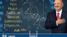 Ünye Belediye Başkanı Tavlı'nın Yılbaşı Mesajı