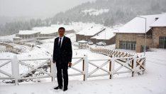 Çambaşı Yaylası'ndaki kayak merkezi hizmete hazır