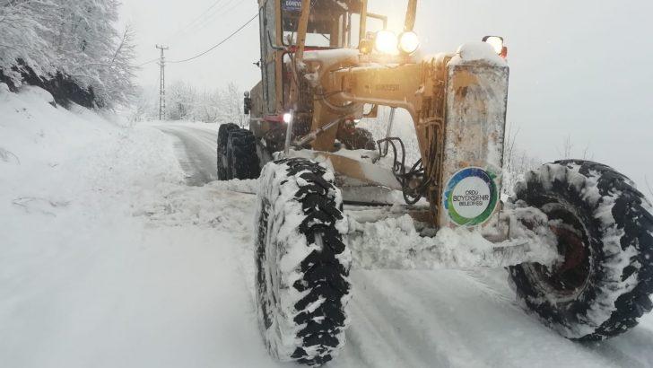 Ordu Büyükşehir, kar ekiplerini seferber etti
