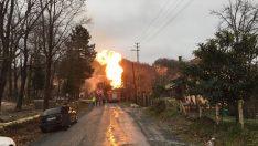 Ordu'da doğal gaz borusu patladı