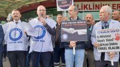 Ordu'da sağlık çalışanına şiddet protesto edildi