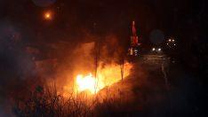 Ordu'daki doğal gaz borusunun patlama anı kameraya yansıdı