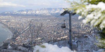 Ordu Boztepe kar nedeniyle yoğunluk yaşadı