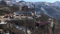Ordu'da akaryakıt istasyonunun duvarı çöktü