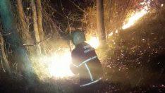 Ordu Ünye'de Orman Arazisi Yandı.
