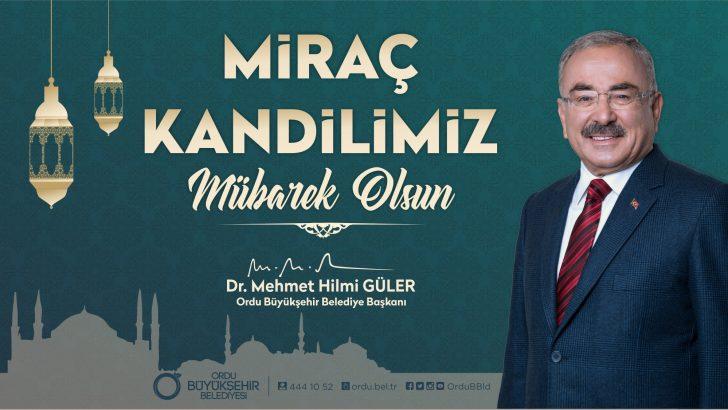 Başkan Güler, Miraç, Biz Müslümanlar İçin Manevi Bir Terfidir