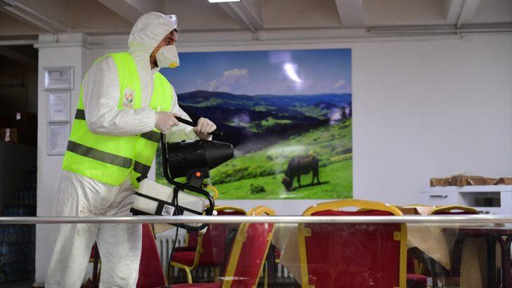 Altınordu'da ortak kullanım alanları dezenfekte edildi