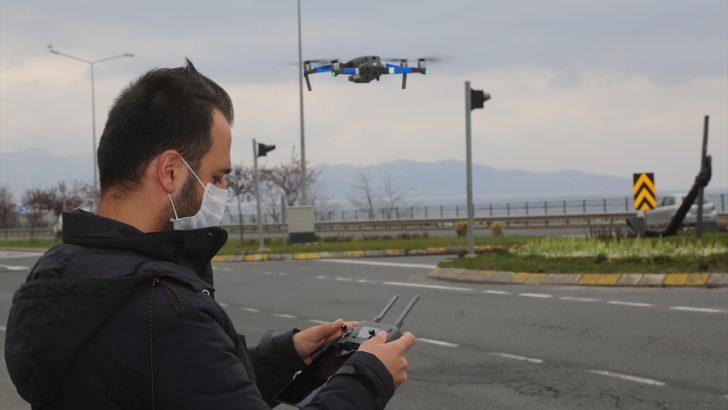 Ordu'da Sokağa çıkan vatandaşlar dron ile denetleniyor