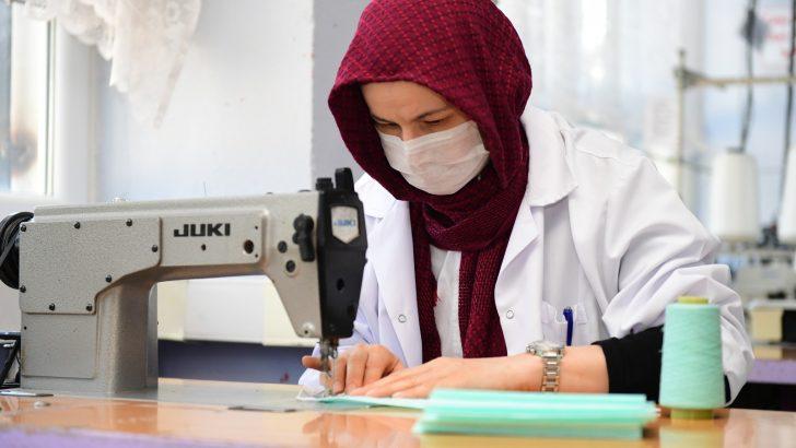 Ordu'da ücretsiz dağıtılmak üzere 100 bin maske üretimine başlandı