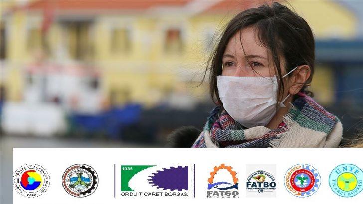 Ordu'da sağlık çalışanlarına maske kampanyası başlatıldı
