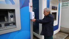 Altınordu Belediyesi Atm'lere Dezenfektan Koydu