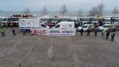 Ordu'da Belediye çalışanlarından sağlık çalışanlarına destek