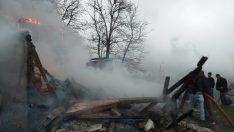 Ordu Çaybaşı'nda ahşap ev yandı