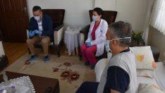 Ordu'da sağlıkçılardan meslektaşları için anlamlı ziyaret