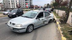 Ünye'de iki otomobil çarpıştı: 1 yaralı