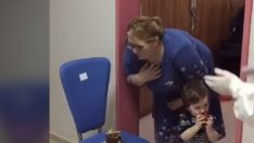 Ordu'da karantinadaki iki çocuk annesine doğum günü sürprizi