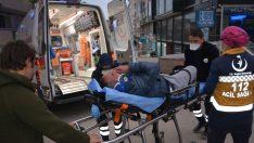 Fatsa'da otomobille çarpışan motosiklet sürücüsü yaralandı