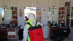 Altınordu Belediyesi Berber ve Kuaförleri Dezenfekte Ediyor