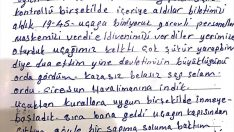 Ordu'da karantinaya alınan vatandaşlar memnuniyetlerini mektuplarla anlattı