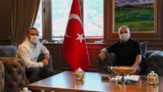 Vali Sonel  Başkan Güler'e iade-i-ziyarette bulundu.